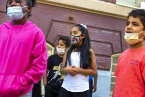 ETM Students wearing masks