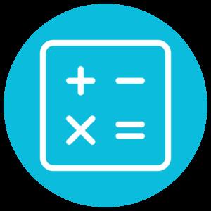an icon of a calculator
